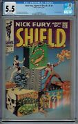 Cgc 5.5 Nick Fury Agent Of Shield 1 1st Solo Series 1968 Steranko Cover And Art