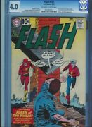 Cgc 4.0 Flash 123 1st Golden Age Flash In Sa 1st Mention Of Earth 2 Ow/w Pages