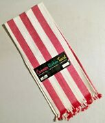Vintage Cannon All Kitchen Towels Red Stripes Linen Nos Rare -- 4902