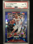 2019 Panini Prizm Blue Ice 31 Trae Young Psa 8 Nm-mt /99 Numbered Parallel