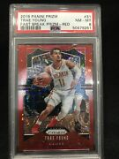2019 Panini Prizm Fast Break Red 31 Trae Young Psa 8 Nm-mt /125 Numbered