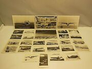 4 Vintage Rppc Real Photo Postcards And 24 Mini Cards U.s. Navy Airplanes 1940's