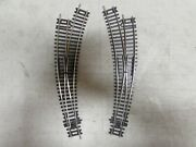 2 Peco Nickle/silver Curved Switch Turnouts Ho Scale Lot 990