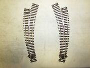 2 Peco Nickle/silver Curved Switch Turnouts Ho Scale Lot 991