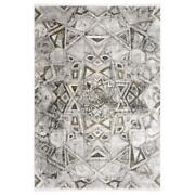 Mda Home Andros 8'x11' Medallion Transitional Fabric Area Rug In White/brown