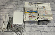 Wii Console And 40 Video Games Bundle Lot 2 Remote 2 Nunchuks Play Hero Music Teen