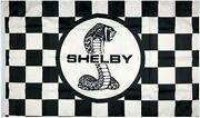 Shelby Cobra Flag Checkered Caution Ford Gt40 Replica Kit Car Banner Gt350 Gt500