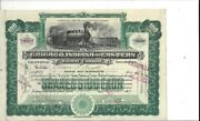 Chicago Indiana And Eastern Railway Company....1902 Common Stock Certificate
