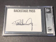 Beckett Authenticated Paul Stanley Kiss Signed Card Cut Backstage Pass Photo A