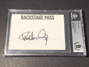 Beckett Authenticated Paul Stanley Kiss Signed Card Cut Backstage Pass Photo B