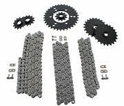 1994 Polaris 400l 400 4x4 Non O Ring Chains And Complete Sprocket Set