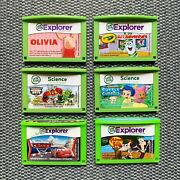 Lot Of 6 Leapfrog Leappad 2 Explorer Game Cartridges Transformers Bubble Guppies