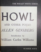 Allen Beats Ginsberg / Howl And Other Poems Fourth Printing 1956 4th Printing