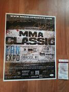 2015 Mma Ufc Signed Classic Expo 13x17 Poster Photo Jsa Authenticated Glove Auto