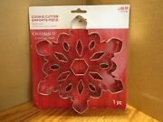 Giant Snowflake Cookie Cutter With Cut-outs 7.5 In Celebrate It
