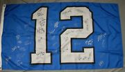 3andrsquox5andrsquo12th Man Flag With Nearly Fifty Seattle Seahawks Autographs Must See