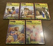 Lot Of 5 Dvds Childrens Bible Stories Animated Praise And Worship Kids Excellent