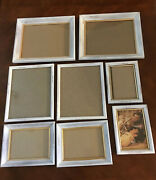 Vintage Picture Frames Wall Decor Farmhouse Shabby Chic Faux Wood Lot Of 8, Used