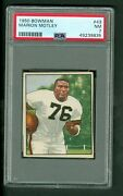 Marion Motley Vintage 1950 Bowman Rookie Card 43 Browns Psa Graded 7 Nm Marked