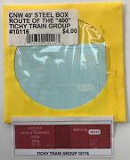 Tichy Train Group 10116 Cnw 40' Steel Boxcar Route Of The 400 Decals Ho Scale