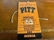 2014 Pitt Panthers V Maryland Terrapins Media Basketball Ticket 1st Acc Win
