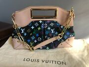 Louis Vuittons Handbags Black Multi Colored Judy Rare And Excellent Condition