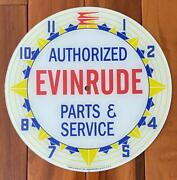 14-3/8 Evinrude Round Glass Replacement Clock Face For Pam Clock Free Ship