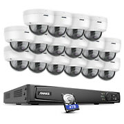 Annke 4k 8ch 16ch Nvr 8mp Audio Poe Ip Security Camera System Microphone H.265+
