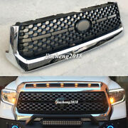 Front Grille Abs Mesh Grill Replacement Chrome Fit For Toyota Tundra 2014-2020