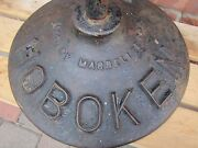 Hoboken Pd Old Street Sign No Parking During Church Service Cast Iron Base Nj Ny