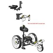 New Bat Caddy X8r Electric Golf Bag Cart White W/ 12v 35ah Battery And Remote