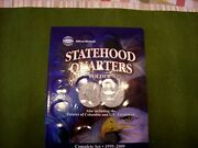 State Quarter Collection 1999 T0 2009 Bu 56 Coins In A Whitman Folder