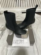 Rick Owens Ss21 Phlegethon Bevel Kiss Boots With Grills Size 42.5 Or 9.5 Us