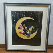 Light Of The Silvery Moon Mickey Minnie Mouse Framed Print Rare F/s Jp