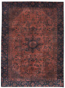 Vintage Hand-knotted Carpet 9and0392 X 12and0398 Traditional Oriental Wool Area Rug