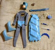 Ideal Captain Action Original Batman Costume And Accessories 1960s With Ring