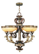 Livex Lighting 8545-64 Seville Chandelier Palacial Bronze With Gilded Accents