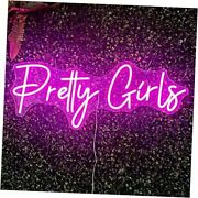 Girls Large Neon Sign For Wall Decor, Bedroom, Home, Shop, Bar, Salon, Pretty