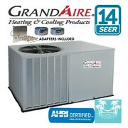 2.5 Ton Package Unit Heat Pump Grandaire With Heat Strip And Adapters