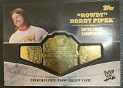 2014 Topps Wwe Championship Belts Gold Sp Rowdy Roddy Piper Only 100 Made Mint