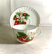 Adderley Cherry Ripe Cup And Saucer