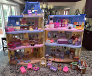 Fisher Price Loving Family Sweet Sounds Victorian Mansion 82 Accessories Blue Rf
