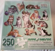 Bits And Pieces Set Of 12 Large Piece Jigsaw Puzzles Kittens By The Dozen 250 Pc