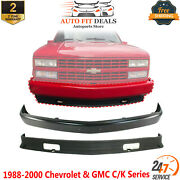 Front Bumper Primed Steel + Lower Valance For 1988-00 Chevrolet And Gmc C/k Series