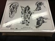 Vintage Don Nolan And Spaulding And Rogers B And W Tattoo Design Flash Lot Of 662