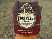 Vintage Drewrys Beer Plastic Sign The American Beer With A German Accent 1960s