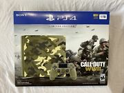 Call Of Duty Wwii Ps4 Limited Edition 1tb Console Camo Variant Bundle Brand New
