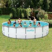 Summer Waves 20ftx48in Elite Frame Pool Set W/filter Pump -new-free Shipping