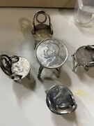 Hand Made Tables And Chairs 90 And Sterling Silver China Fat Man Coins Real