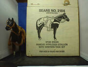 Vintage Breyer Sears 2184 Stud Spider Appaloosa Horse W/tack In 1970and039s Box